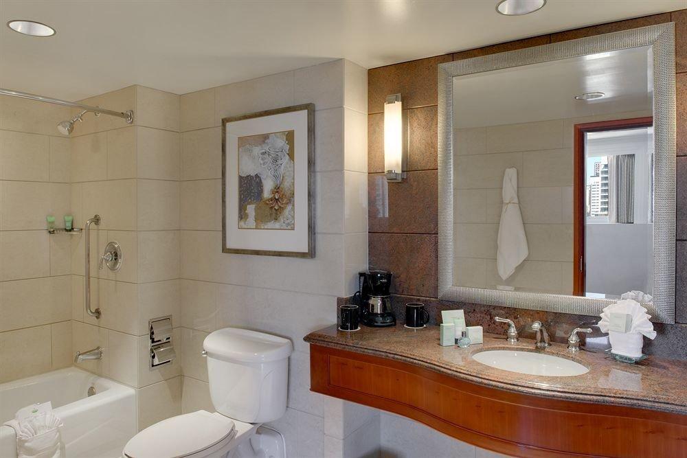 bathroom sink mirror property home counter cottage vanity toilet Bath