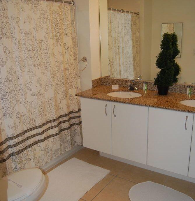 bathroom property home cottage flooring Bath tiled