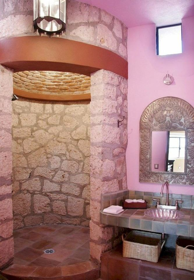 property bathroom home sink cottage flooring hearth stone Bath