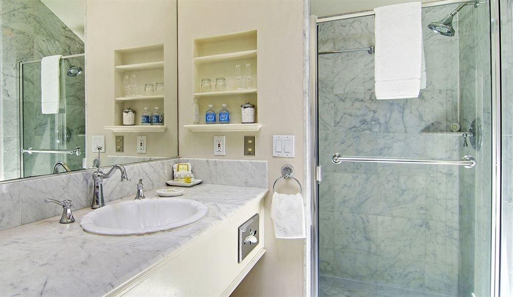 bathroom sink property mirror shower home plumbing fixture toilet cottage Bath tub