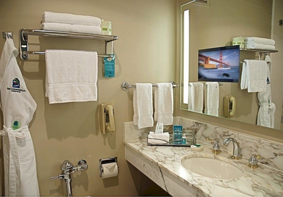 bathroom sink mirror property home towel cottage toilet Bath
