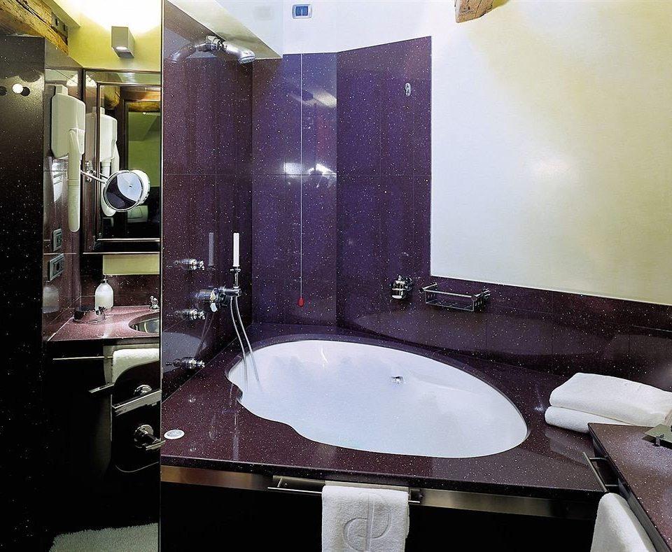bathroom sink mirror house counter towel home plumbing fixture toilet Bath