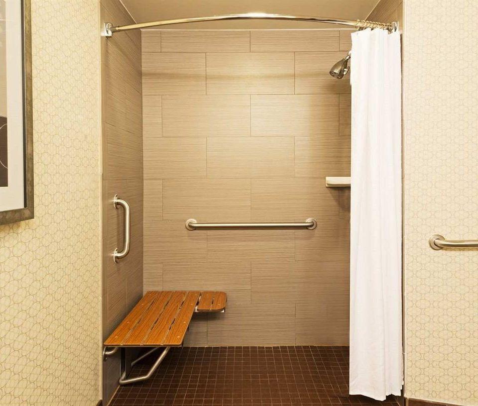 bathroom mirror door sink shower plumbing fixture flooring Bath