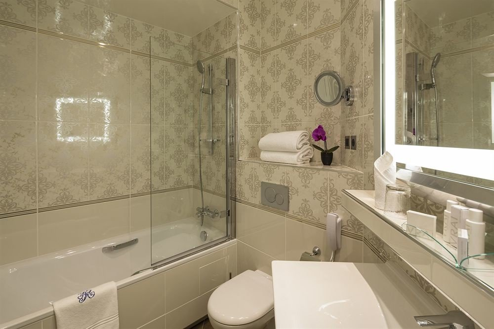 bathroom sink property mirror house toilet home flooring tile Bath