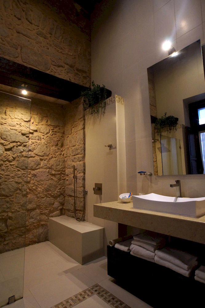 bathroom sink mirror house lighting home tourist attraction tile tub Bath tiled