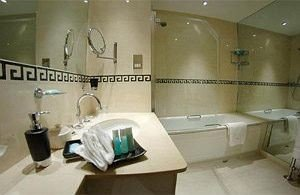 bathroom property sink plumbing fixture toilet tub Bath