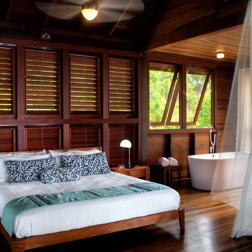 Bath Beachfront Bedroom Eco Elegant Island Jungle Resort Waterfront property home Suite cottage mansion living room