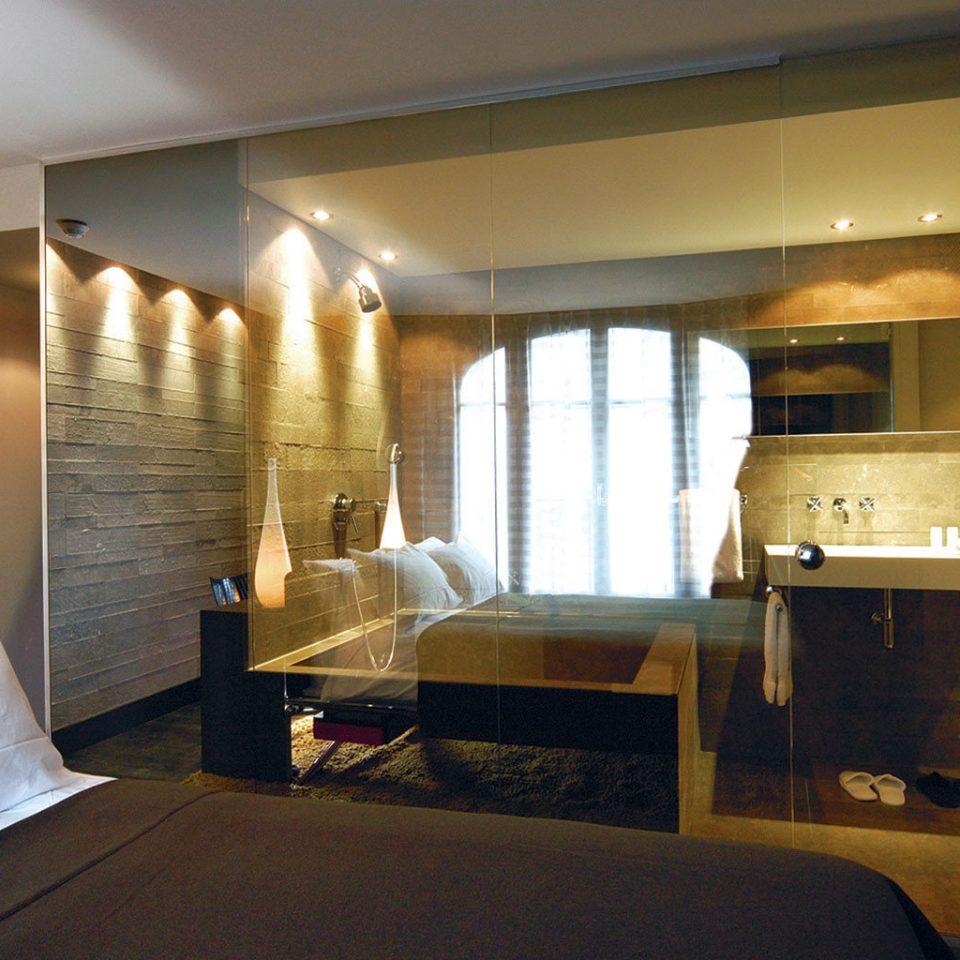 Bath Bedroom Elegant Hip Luxury Modern Scenic views Suite property house home living room condominium cottage