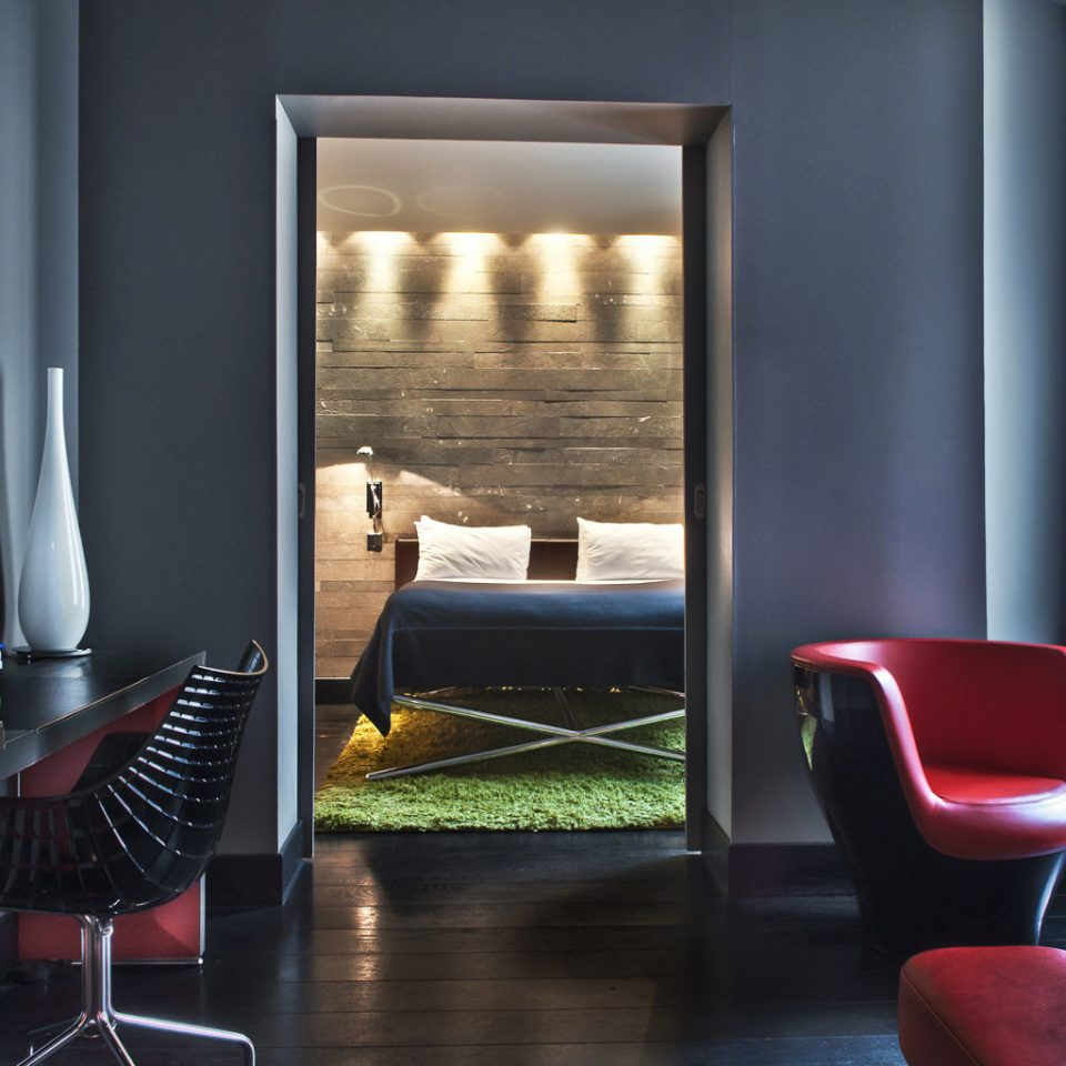 Bath Bedroom Elegant Hip Luxury Modern Scenic views Suite chair property living room Lobby lighting home dining table