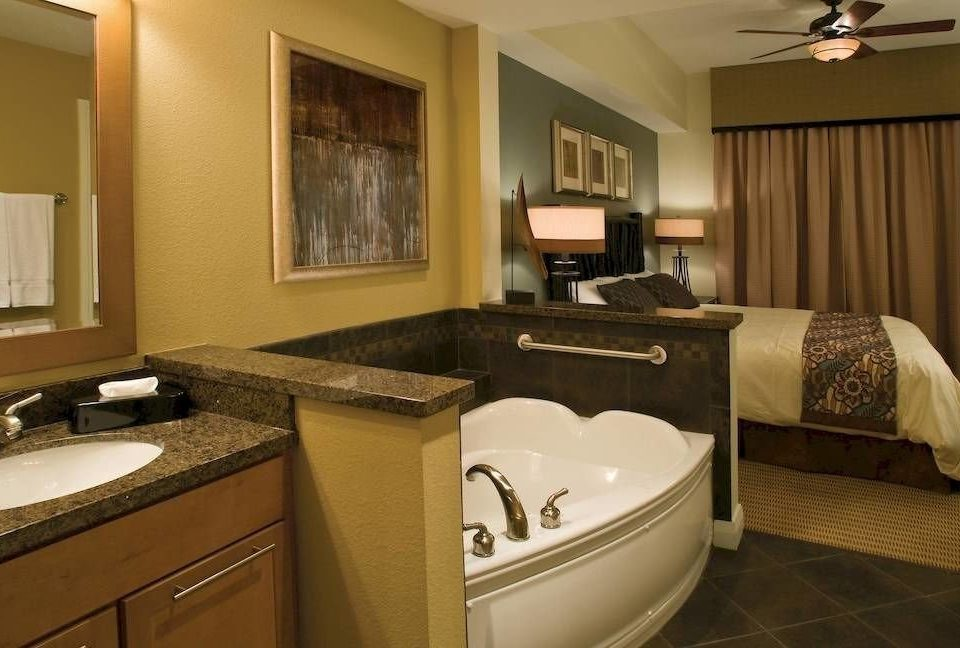 Bath Bedroom Family Resort bathroom property sink home Suite cottage living room