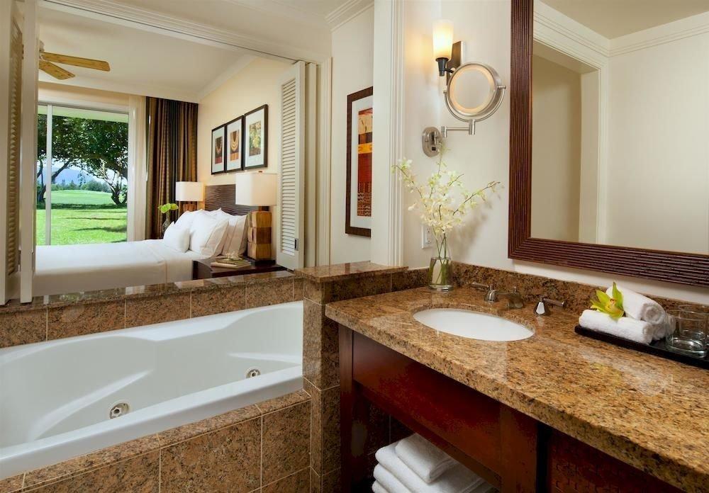 Bedroom Lounge Luxury Modern Suite bathroom sink mirror property counter home cottage vessel Bath