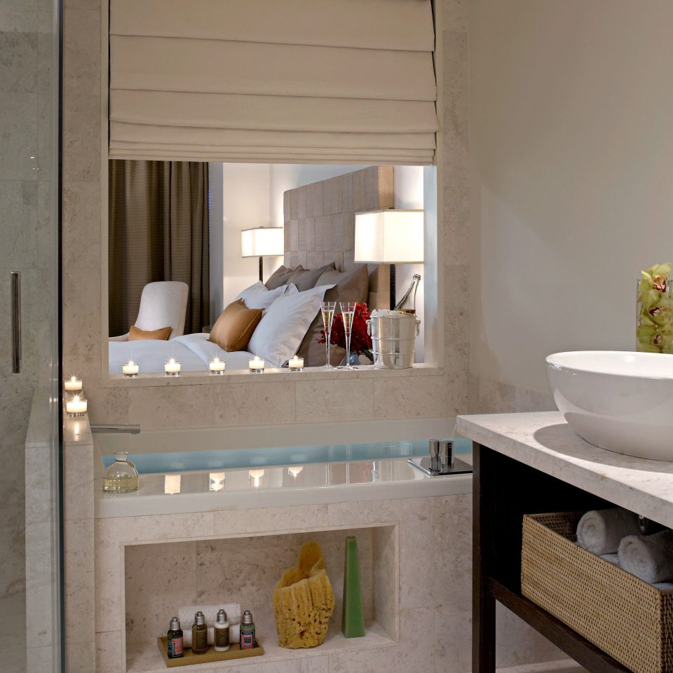 Bath Bedroom Modern Waterfront bathroom sink property living room home cottage cabinetry counter