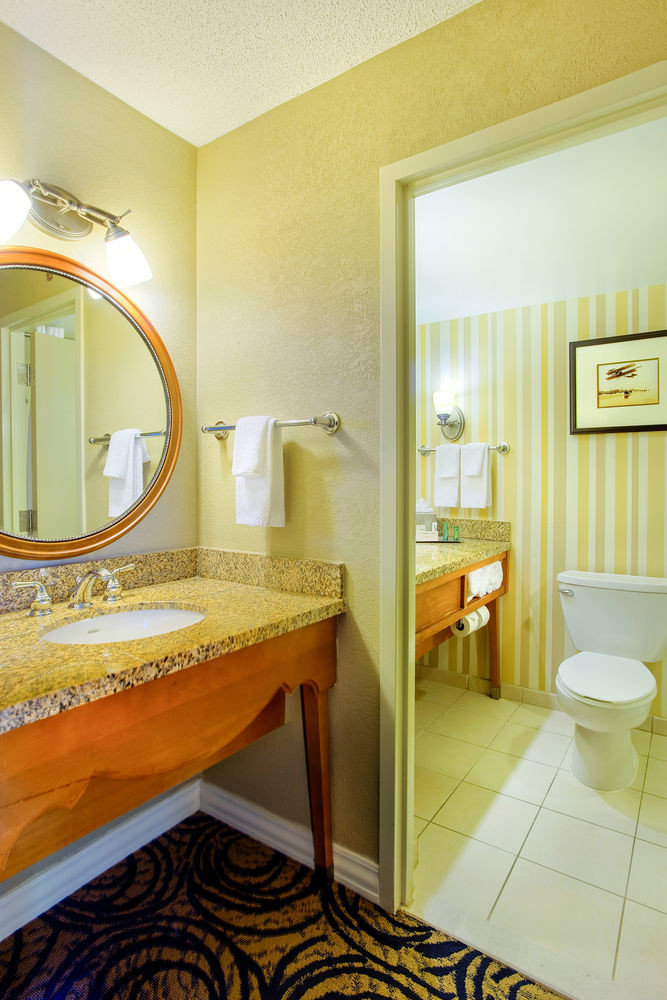 property bathroom house home yellow Suite cottage sink Bedroom Bath tiled