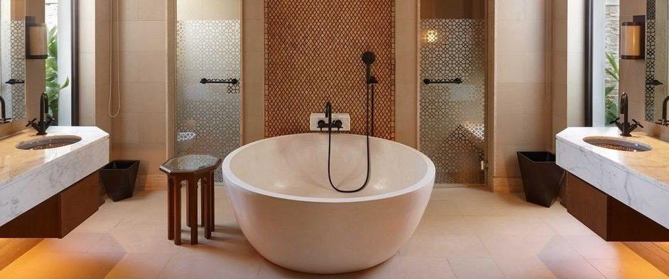 bathroom property bathtub plumbing fixture Suite swimming pool bidet sink tub flooring Bath Bedroom