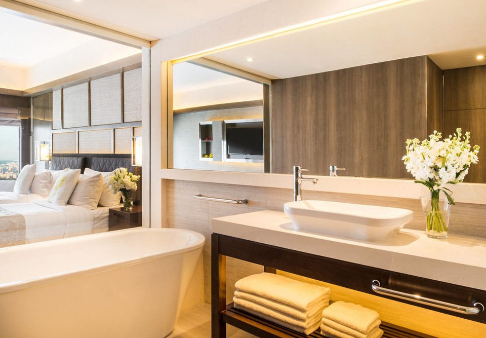 bathroom property passenger ship yacht Suite sink home condominium living room luxury yacht vehicle cabinetry Boat tub bathtub Bath
