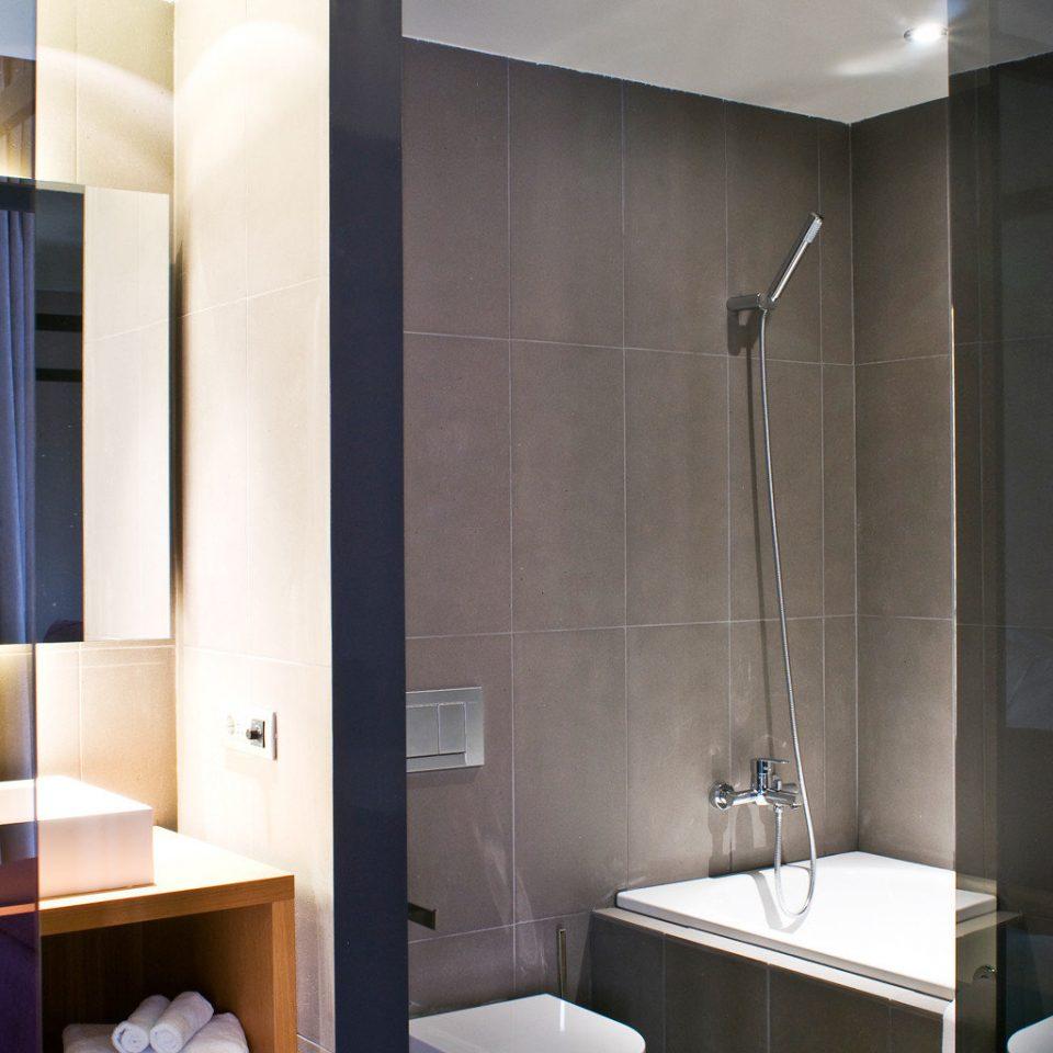 Bath Boutique Budget City Modern bathroom Suite sink plumbing fixture tiled