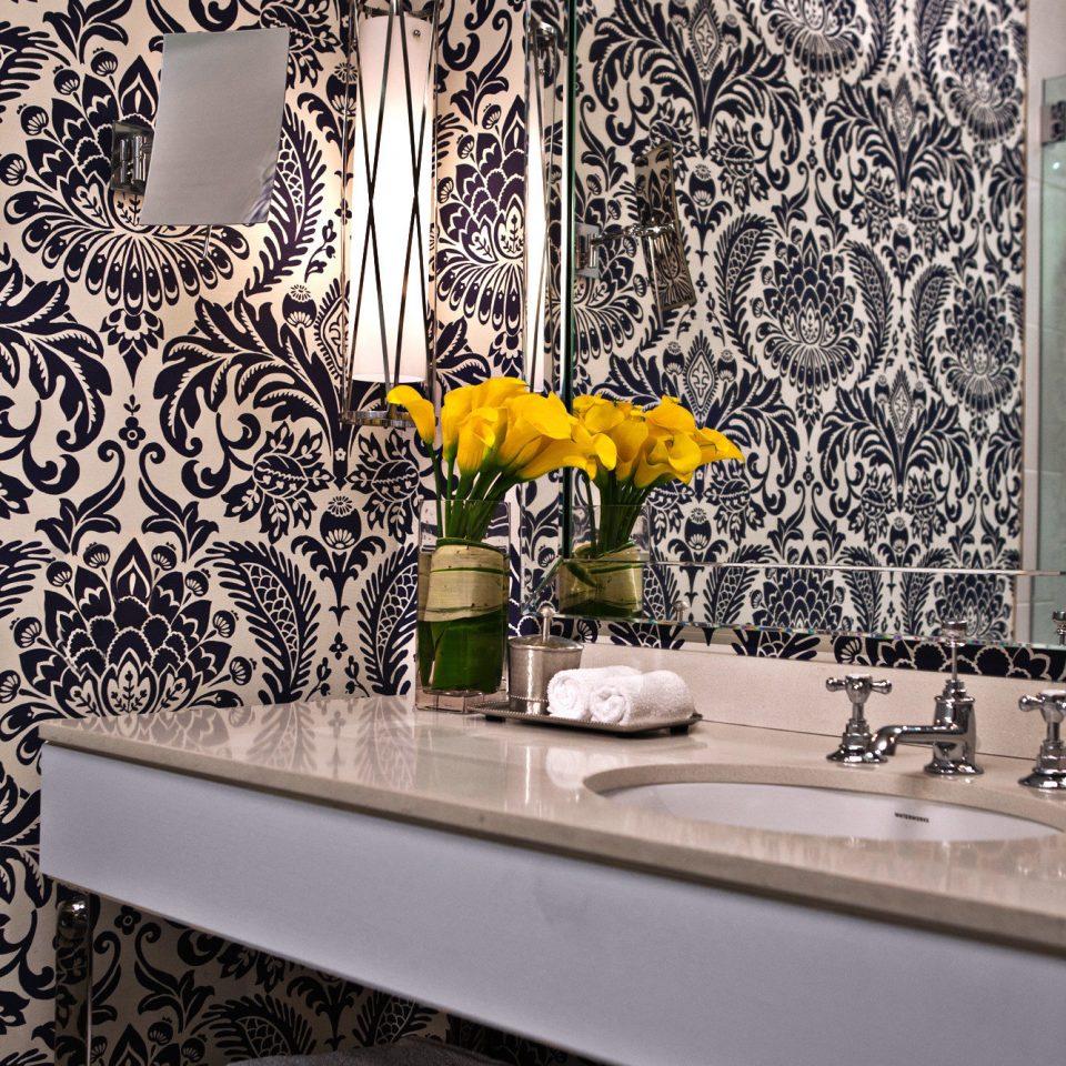 Bath Boutique City Hip bathroom flooring lighting wallpaper modern art tile living room