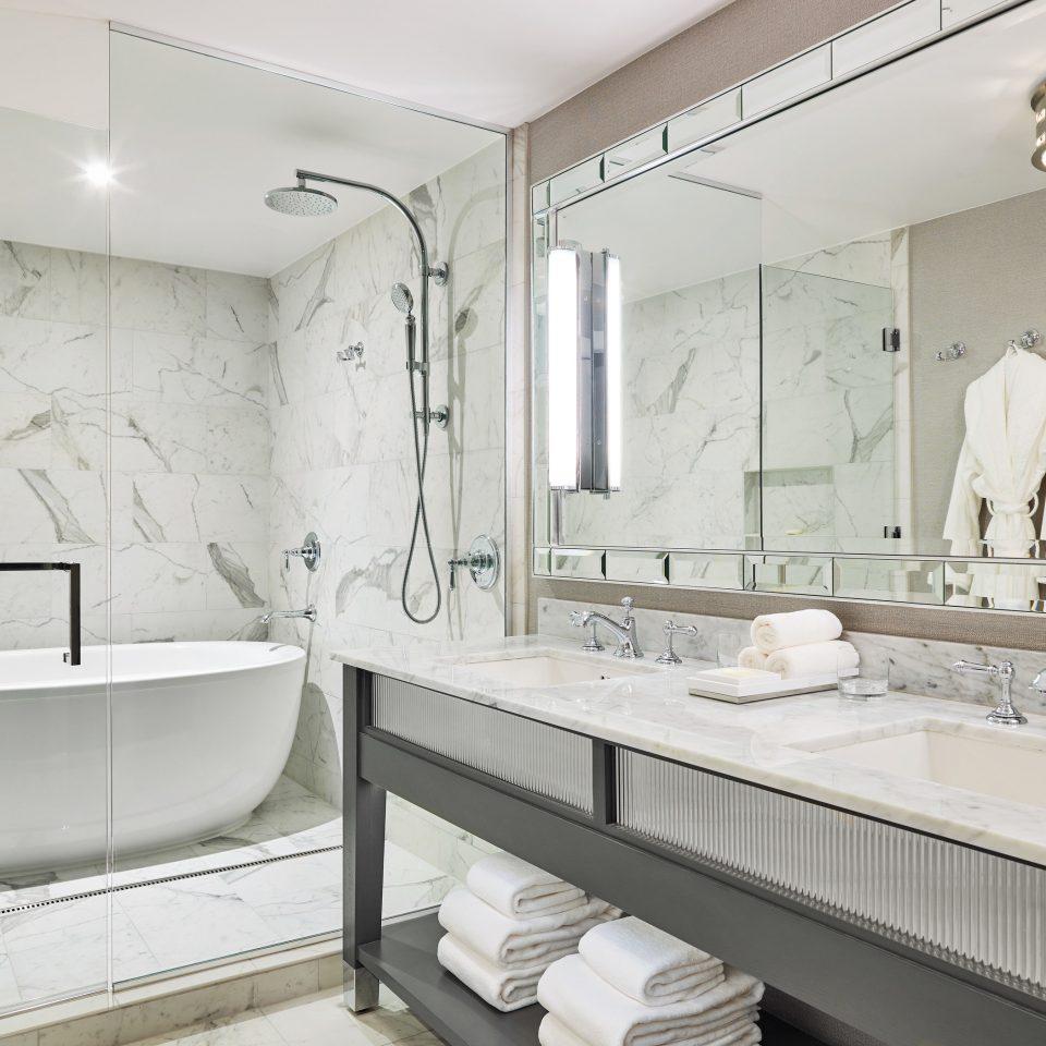 Boutique Hotels Hotels Outdoors + Adventure Winter bathroom mirror sink tap product design plumbing fixture interior designer tub Bath bathtub