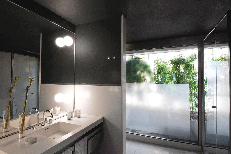 Bath Boutique Modern bathroom mirror sink property lighting daylighting glass tile