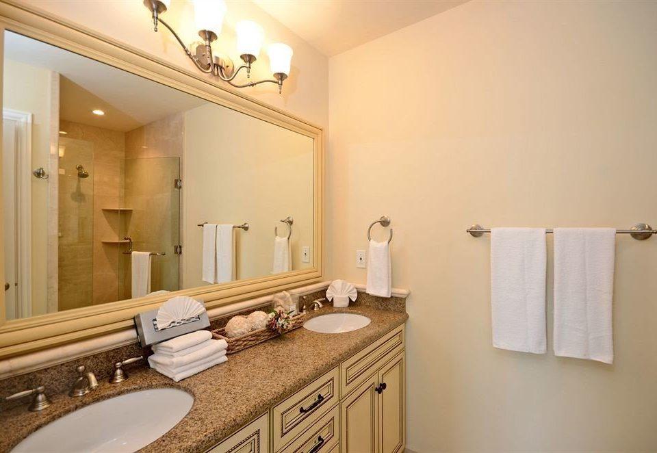 Bath Boutique Modern Waterfront bathroom mirror sink property home towel vanity cottage counter Suite rack