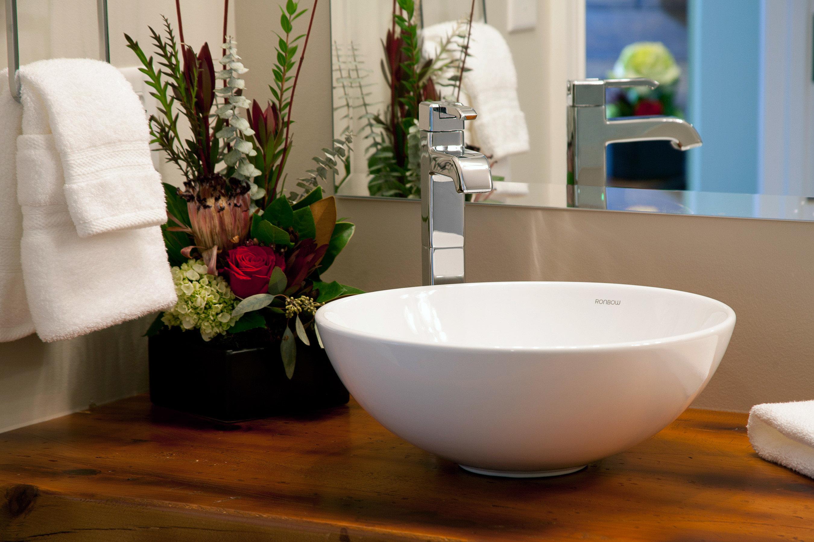 Bath Boutique Rustic bathroom bathtub plumbing fixture ceramic sink bidet home flooring plant