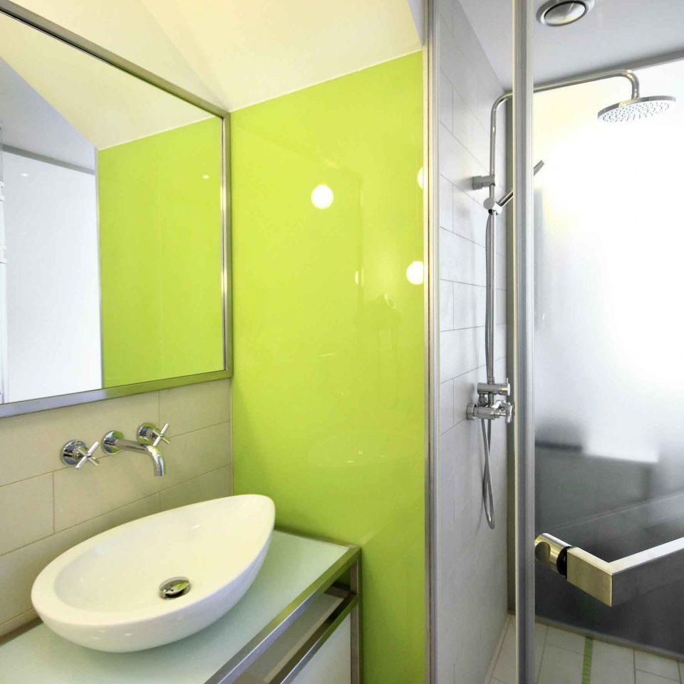 Bath Budget City Modern bathroom mirror toilet property sink public toilet plumbing fixture rack