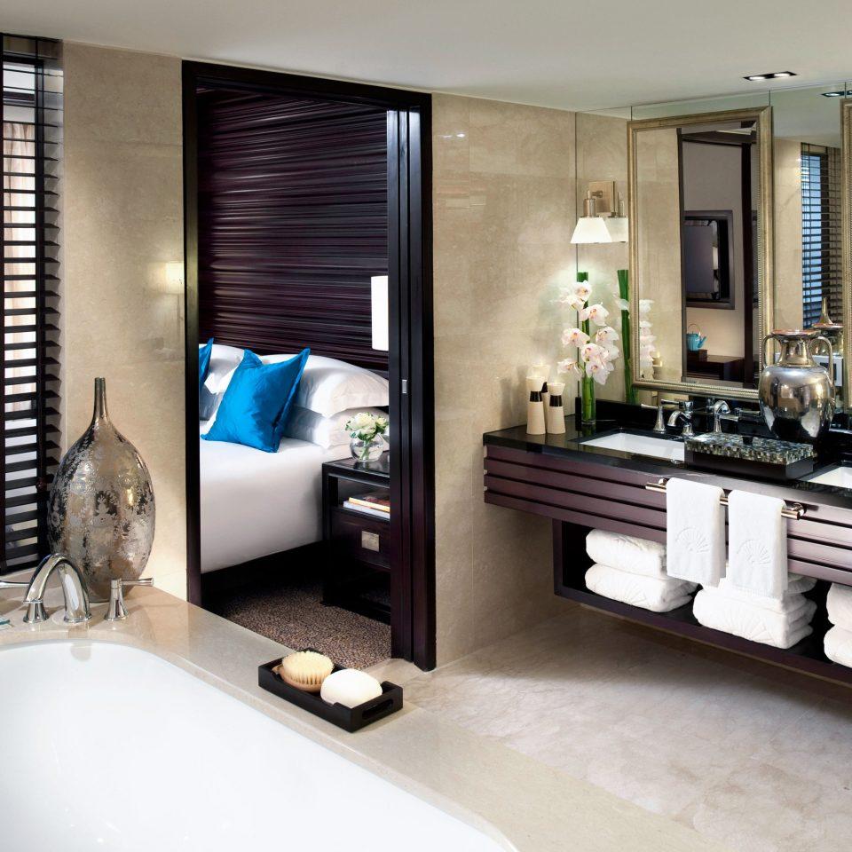 Bath Business City Luxury bathroom sink property condominium Suite home bathtub Modern tub