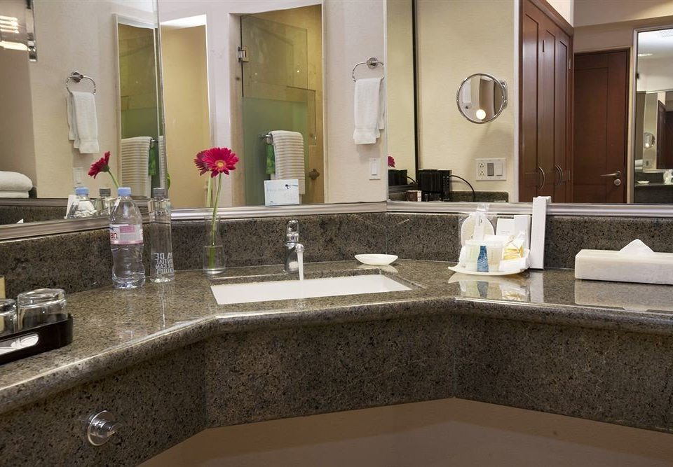 Bath Business Modern bathroom mirror sink property countertop counter home hardwood flooring Kitchen Suite material tile