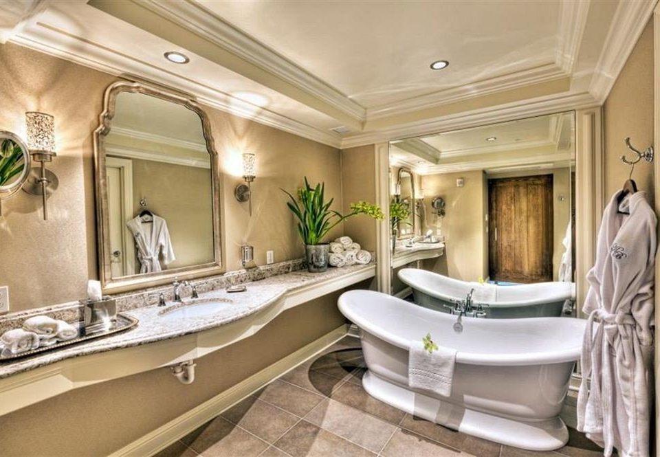 Bath City Elegant bathroom property sink home Suite mansion living room tub bathtub tan