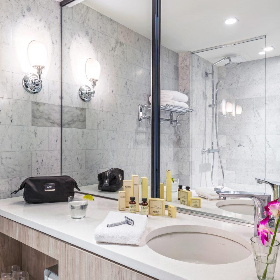 Bath City Hip Modern bathroom sink property mirror home lighting plumbing fixture counter bathtub flooring