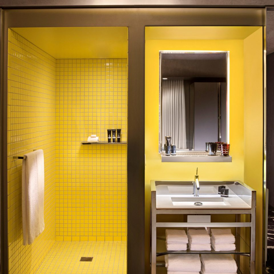Bath City Modern bathroom house Suite home yellow toilet