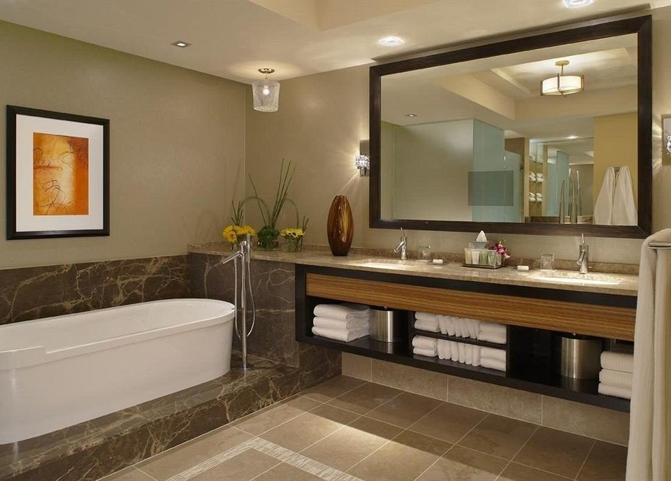 Bath Classic bathroom property mirror home hardwood cabinetry Suite sink flooring Modern tub clean tile bathtub