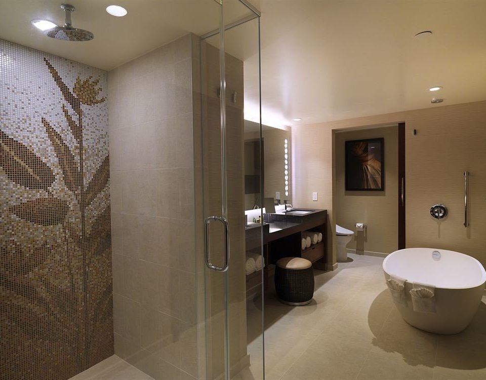 Bath Classic Resort bathroom toilet mirror property sink home Suite shower flooring tile tiled