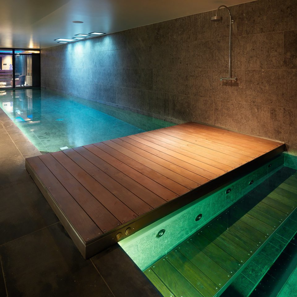 Bath Country Hip Lodge Rustic Spa Wellness swimming pool structure light house sport venue flooring lighting