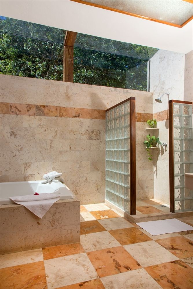 building property house flooring home backyard stairs outdoor structure Courtyard brick stone tub Bath