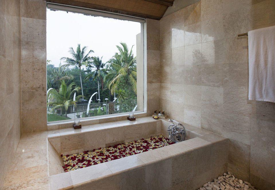 bathroom property house home plumbing fixture flooring mansion Courtyard tub Bath bathtub