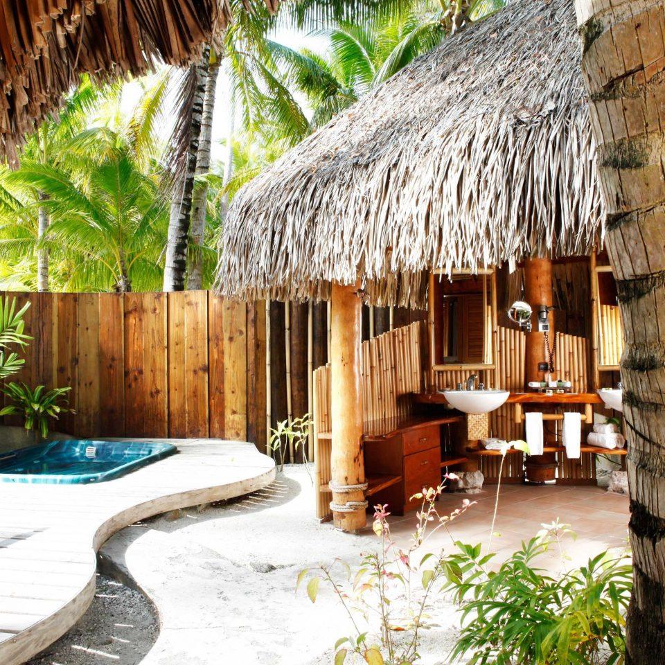 Bath Deck Eco Island building Resort Jungle eco hotel backyard swimming pool stone