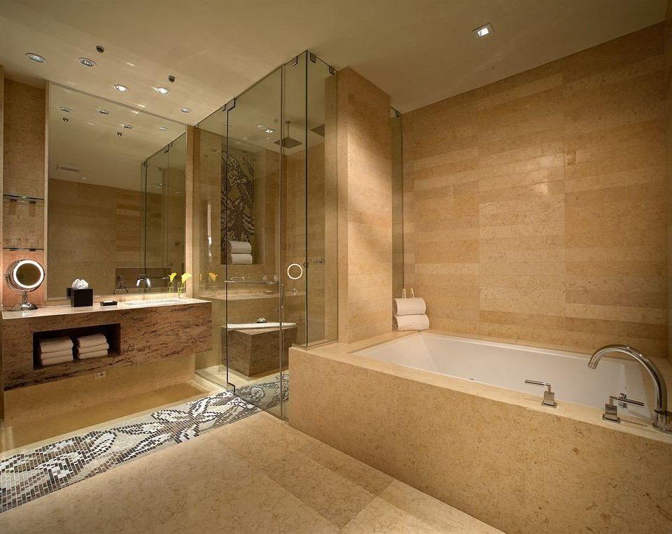 Bath Elegant bathroom property sink home flooring plumbing fixture tile bathtub clean
