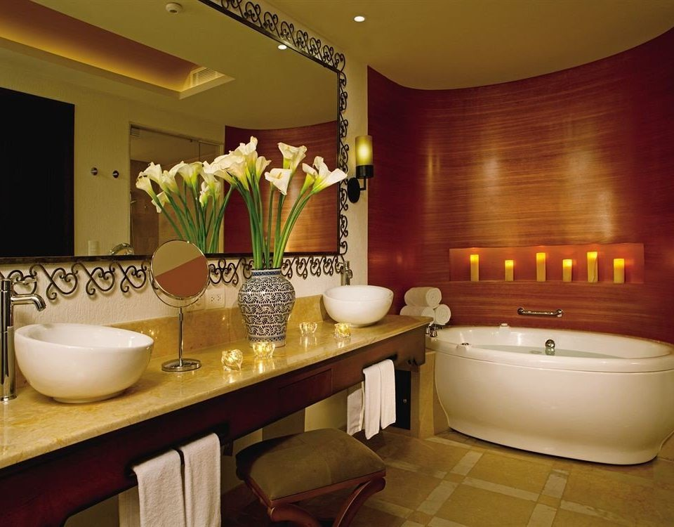 Bath Elegant Luxury Modern Romantic bathroom property sink Suite counter