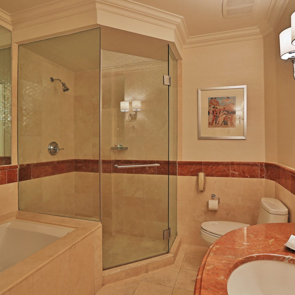 Bath Elegant Luxury bathroom sink toilet property mirror home plumbing fixture flooring Suite water basin tan