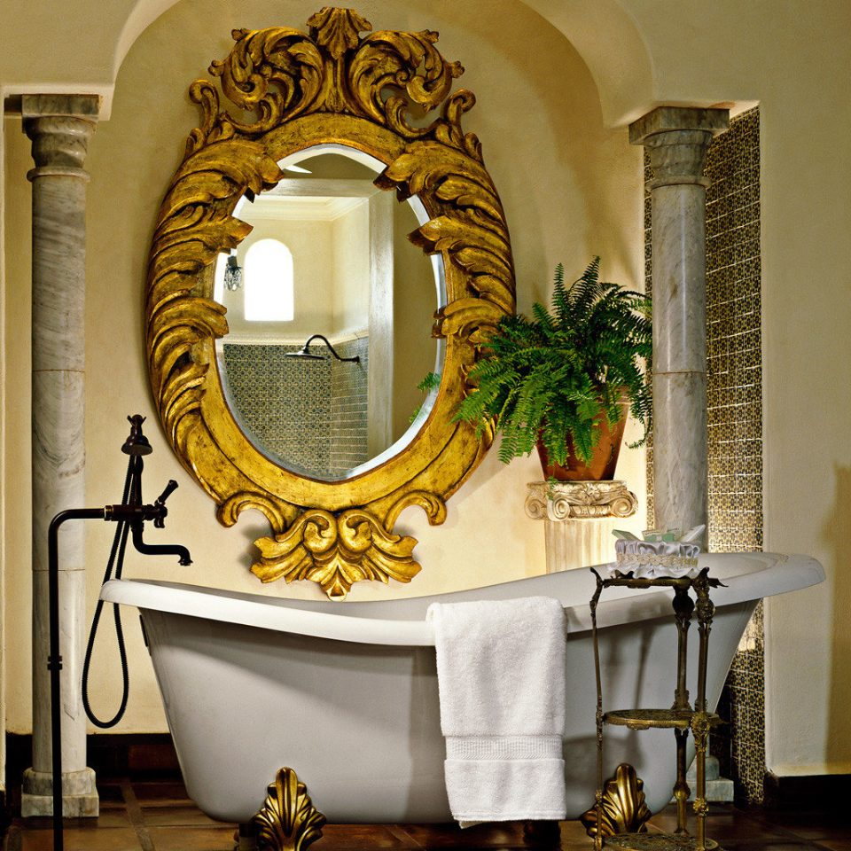 Bath Elegant Romance Romantic mirror living room lighting home arch modern art round tiled altar