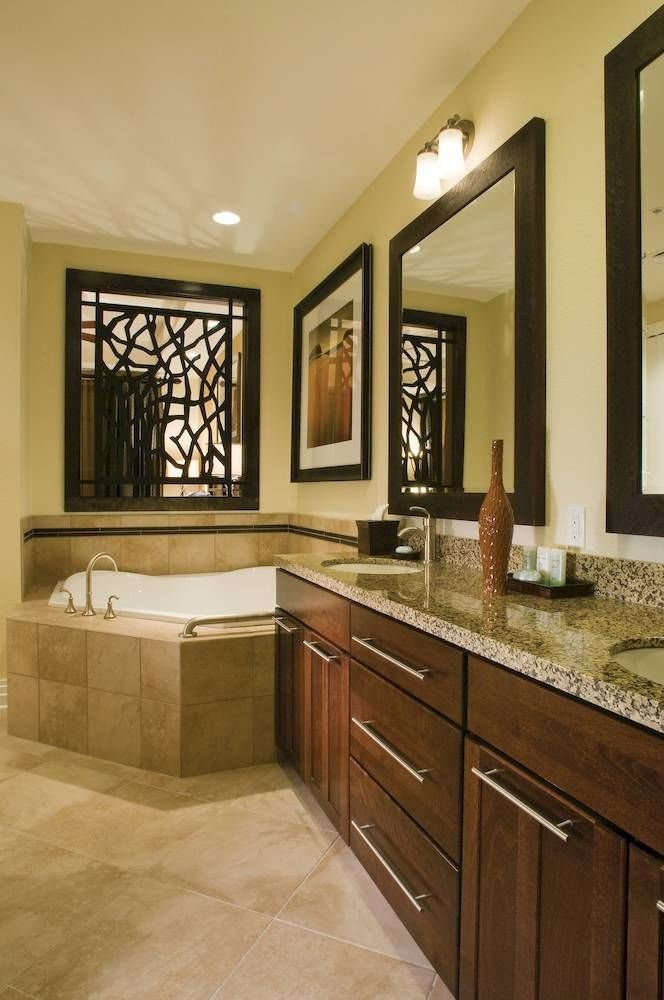 Bath Family Resort bathroom property cabinetry countertop home Kitchen hardwood flooring cuisine classique wood flooring sink tile farmhouse material tan