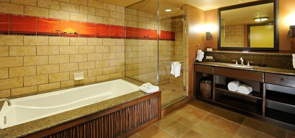 Bath Family Resort bathroom property sink Suite swimming pool flooring tile tiled