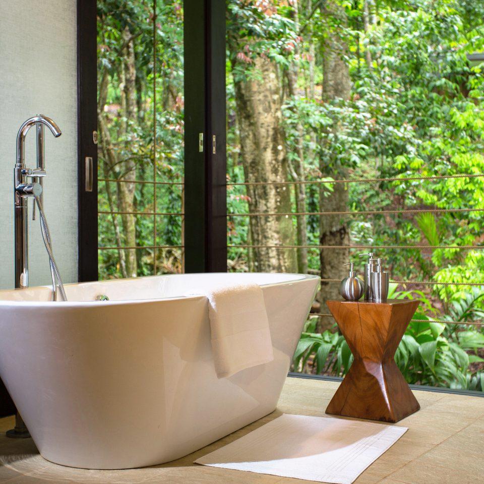 Bath Forest Jungle Luxury Romantic Rustic bathtub plumbing fixture home bathroom swimming pool