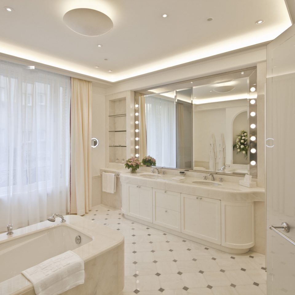 France Hotels Luxury Travel Paris bathroom sink home tub bathtub flooring interior designer plumbing fixture Bath tile