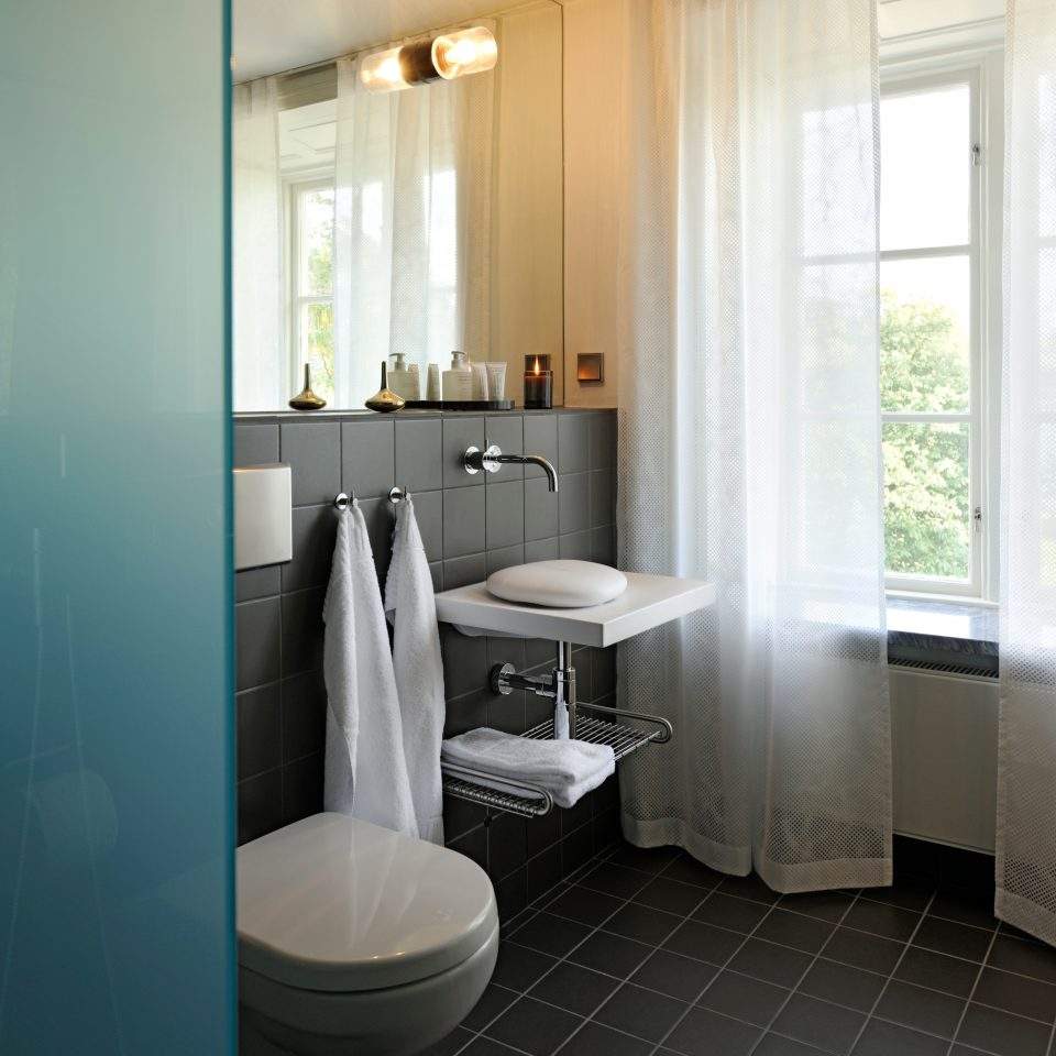 Bath Historic Hotels Modern Stockholm Sweden bathroom property home white flooring plumbing fixture cottage tile tiled