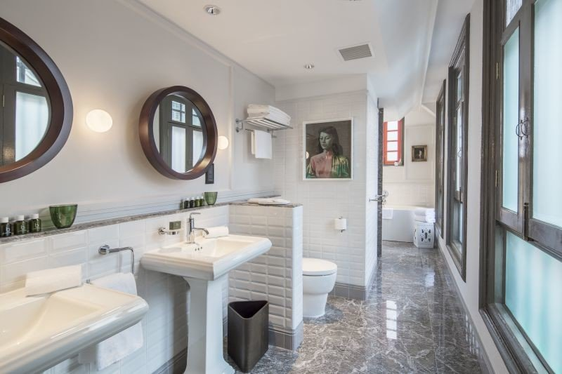 Hotels Romance bathroom sink mirror property home cottage condominium mansion Suite tub Bath bathtub tile