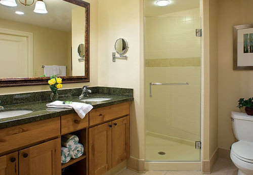 bathroom cabinet sink property home cabinetry cottage Kitchen countertop Bath