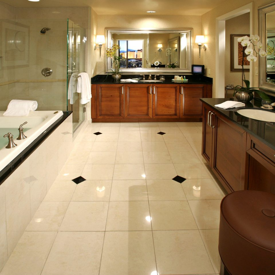 Bath Luxury Modern bathroom property Kitchen home sink house countertop flooring cabinetry kitchen appliance