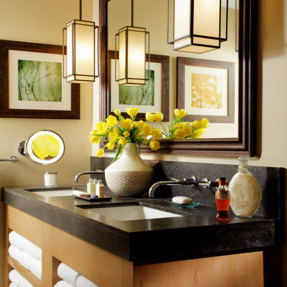 Bath Modern Resort Rustic living room Kitchen home sink hardwood cabinetry lighting countertop